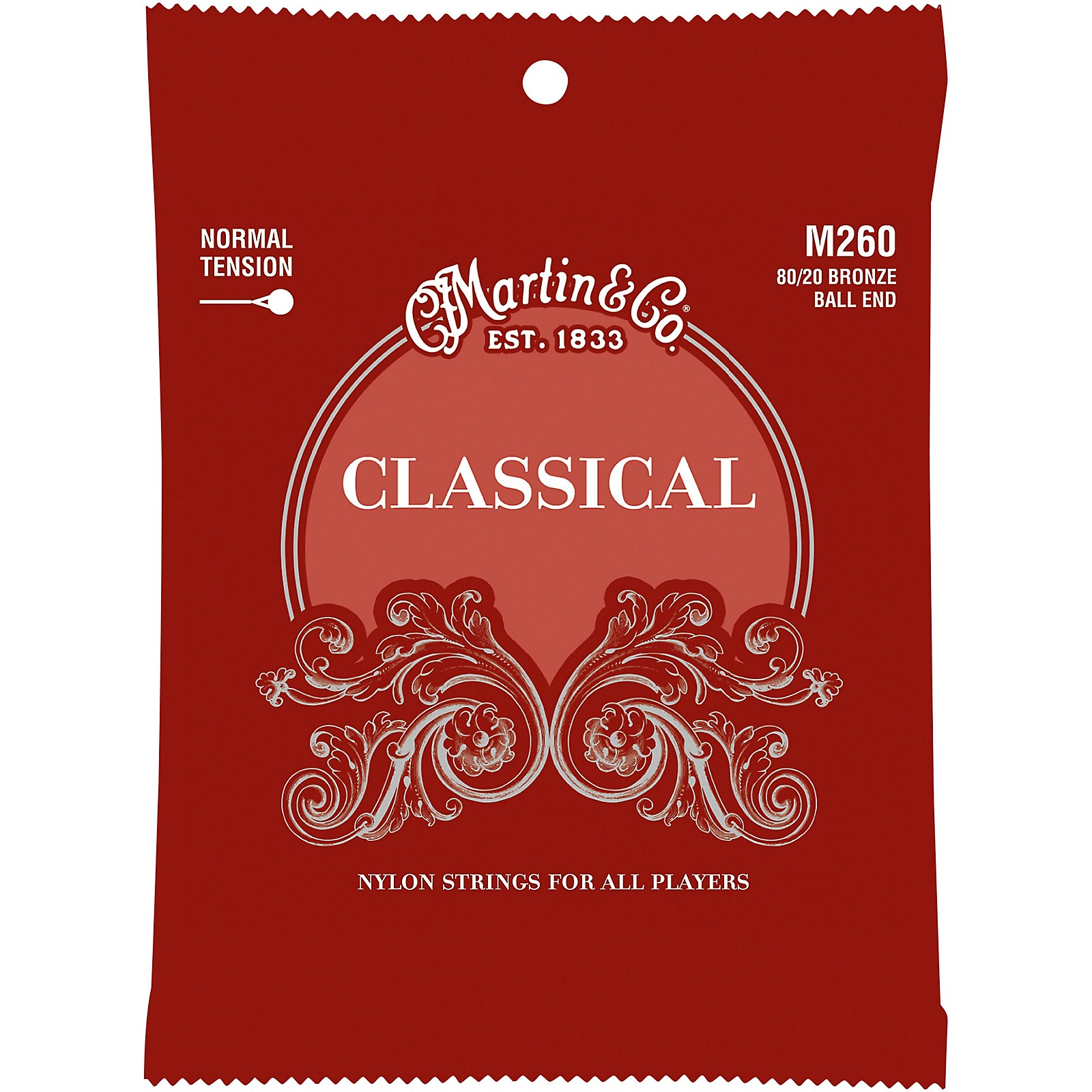 Martin M260 Classical Normal Tension 80/20 Bronze Ball Ended Strings