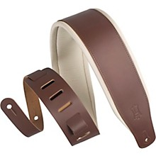 Levy's M26PD-BRN_CRM 3 inch Wide Top Grain Leather Guitar Straps