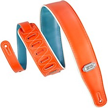 "Levy's M26VCP-ORG_TEL 2 3/4"" Wide Orange / Teal Vinyl Guitar Strap"