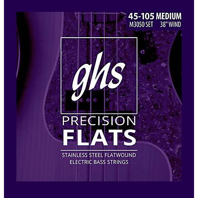 GHS M3050 Precision Flatwound Bass Strings Medium