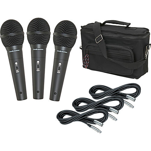 Audio-Technica M4000S 3-Pack Mic and Bag Kit
