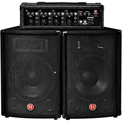 "Harbinger M60 60W, 4-Channel Compact Portable PA with 10"" Speakers"