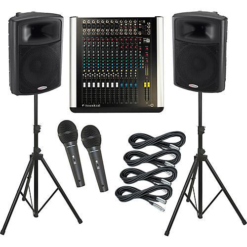 Soundcraft M8 / Harbinger APS15 PA Package