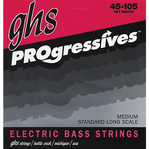 GHS M8000 Medium Progressives Electric Bass Strings