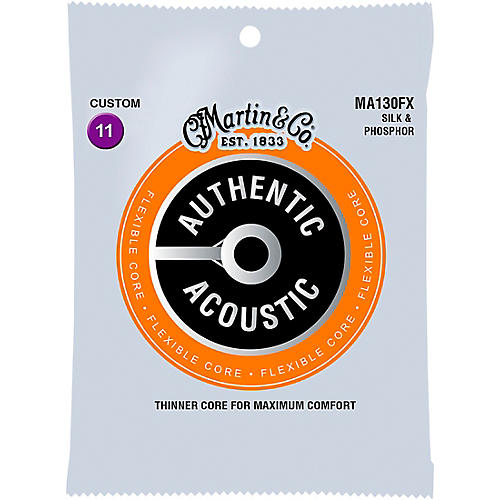 Martin MA130FX Authentic Acoustic - Flexible Core Silk and Phosphor Custom Guitar Strings
