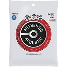 Martin MA150T Lifespan 2.0 80/20 Bronze Medium Authentic Acoustic Guitar Strings