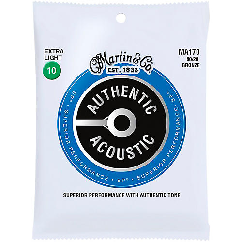 Martin MA170 Authentic Acoustic 80/20 Bronze Extra Light Guitar Strings