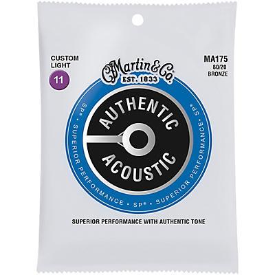 Martin MA175 SP 80/20 Bronze Custom-Light Authentic Acoustic Guitar Strings