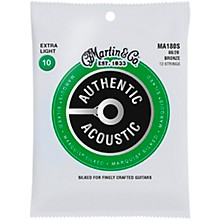 Martin MA180S Marquis 12-String 80/20 Bronze Extra-Light Authentic Acoustic Silked Guitar Strings