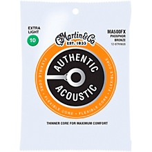 Martin MA500FX Authentic Acoustic Flexible Core 12-String Phosphor Bronze Light Guitar Strings