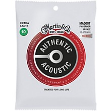 Martin MA500T Lifespan 2.0 12-String Phosphor Bronze Extra-Light Authentic Acoustic Guitar Strings