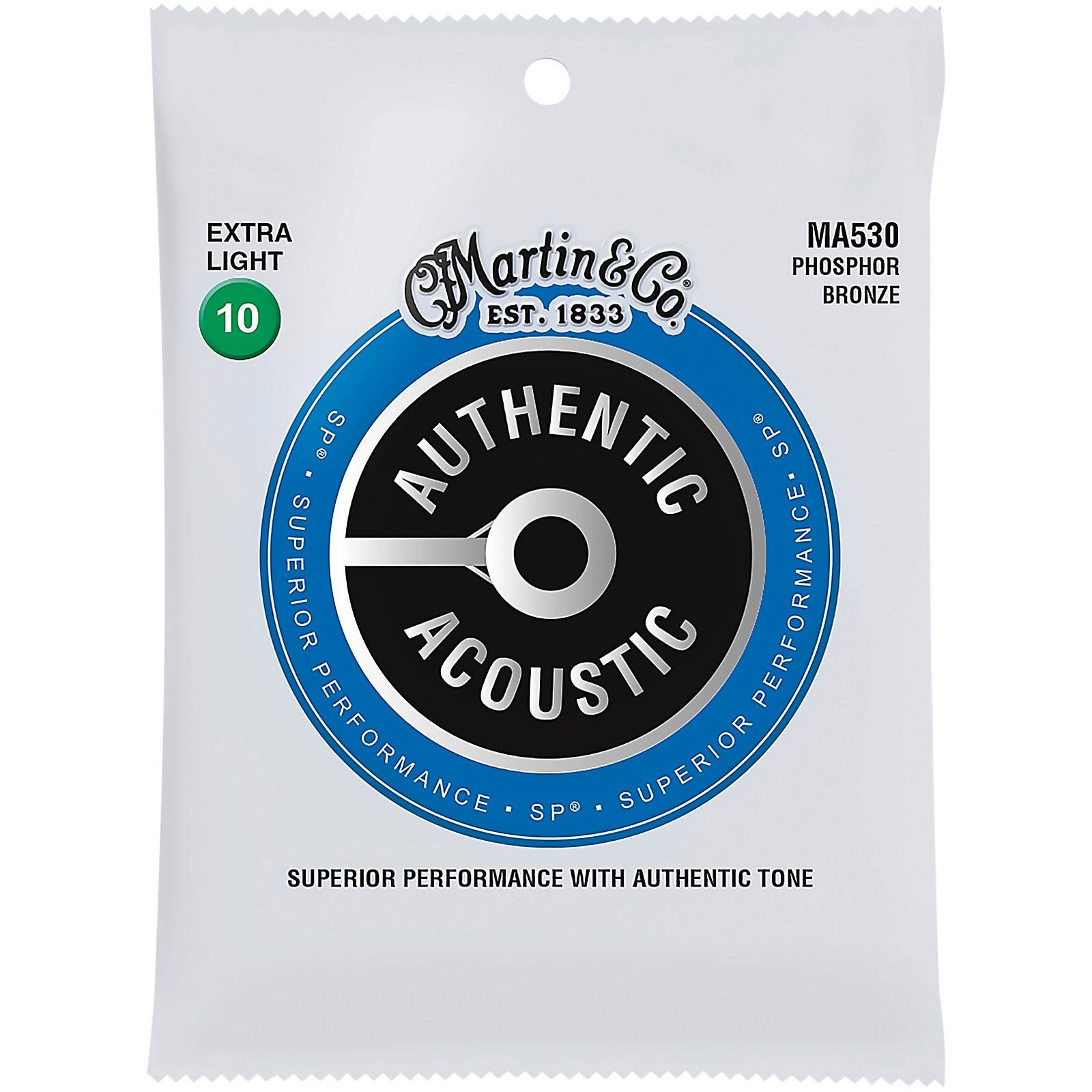 Martin MA530 SP Phosphor Bronze Extra-Light Authentic Acoustic Guitar Strings