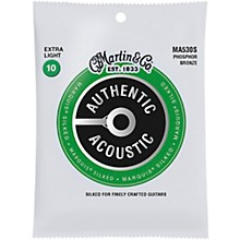 Martin MA530S Marquis Phosphor Bronze Extra-Light Authentic Acoustic Silked Guitar Strings