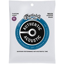 Martin MA535 Authentic Acoustic Phosphor Bronze Custom-Light Guitar Strings