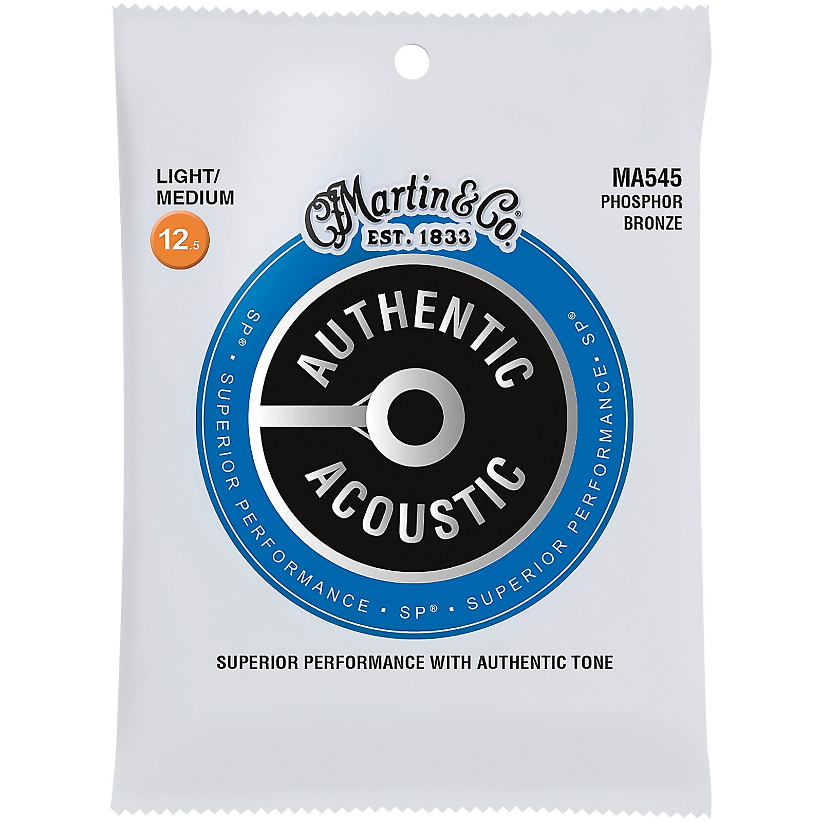 Martin MA545 SP Phosphor Bronze Light/Medium Authentic Acoustic Guitar Strings