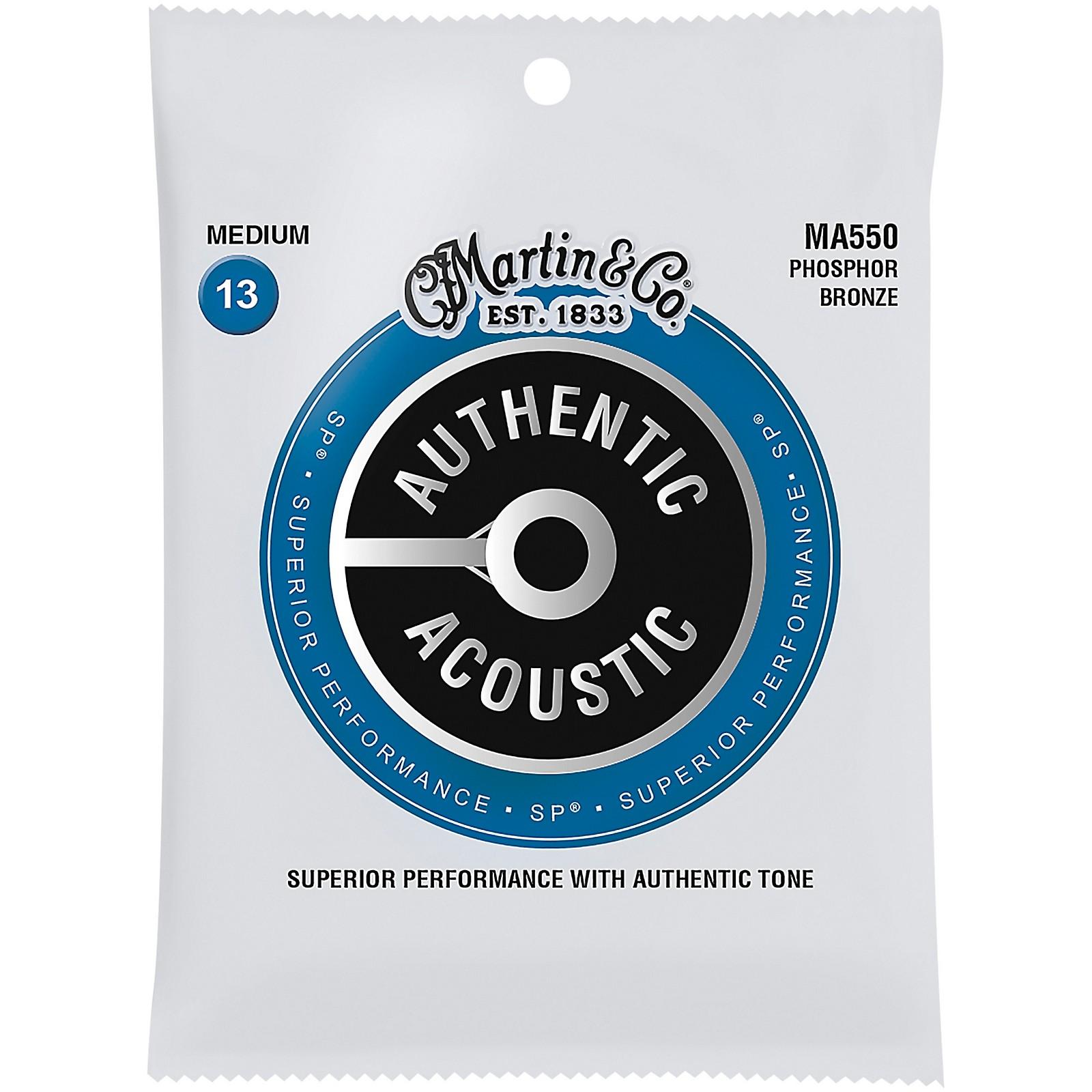 Martin MA550 SP Phosphor Bronze Medium Authentic Acoustic Guitar Strings