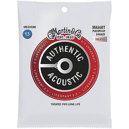 Martin MA550T Lifespan 2.0 Phosphor Bronze Medium Authentic Acoustic Guitar Strings