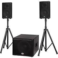 Open Box B-52 MATRIX-1500 1200-Watt 15 Sub & Two 10 2-Way Three Piece Active Speaker System