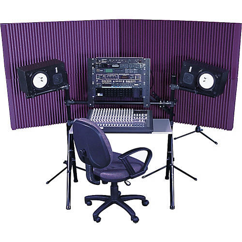 Auralex MAX-Wall 420 Portable Acoustic Treatment System (4-Pack) Purple