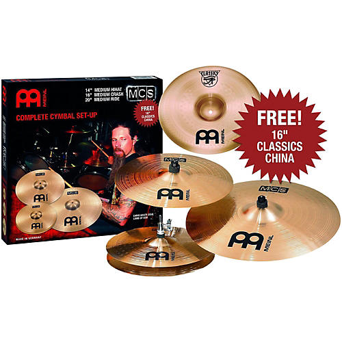 Meinl MCS 3-Cymbal Set + Free 16 Inch China