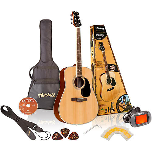Mitchell MD100PK Dreadnought Acoustic Guitar Pack