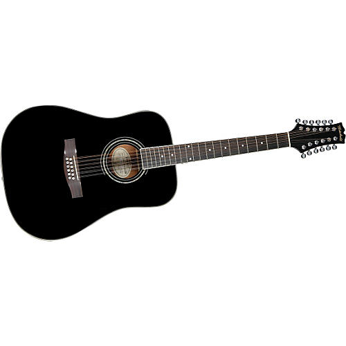 Mitchell MD100S12EBK 12-String Dreadnought Acoustic-Electric Guitar