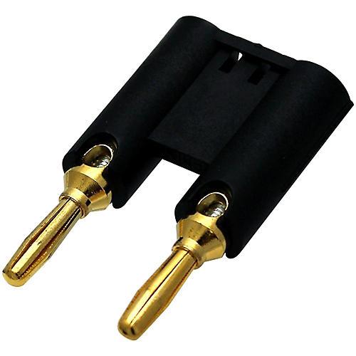 Rapco Horizon MDP Dual Banana Plug Connector Black