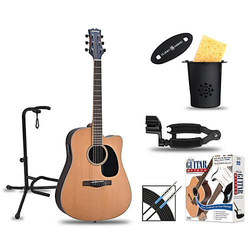 Mitchell ME2CEC Dreadnought Cutaway Acoustic-Electric Deluxe Package