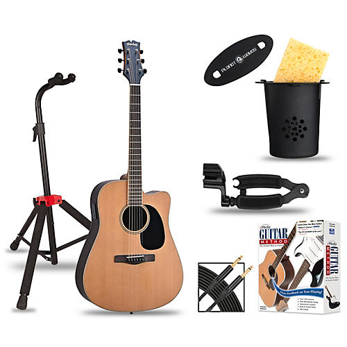Mitchell ME2CEC Dreadnought Cutaway Acoustic-Electric Elite Package