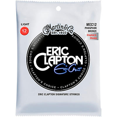 "Martin MEC12 Martin Acoustic ""Clapton's Choice"" Light Phosphor Bronze Guitar Strings"