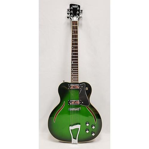 Eastwood MESSENGER Hollow Body Electric Guitar Emerald Green