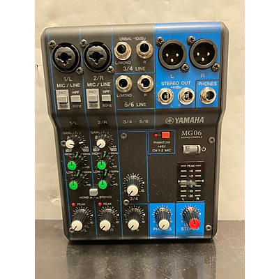 Yamaha MG06 Unpowered Mixer
