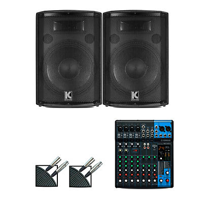 Yamaha MG10XU Mixer and Kustom HiPAC Speakers