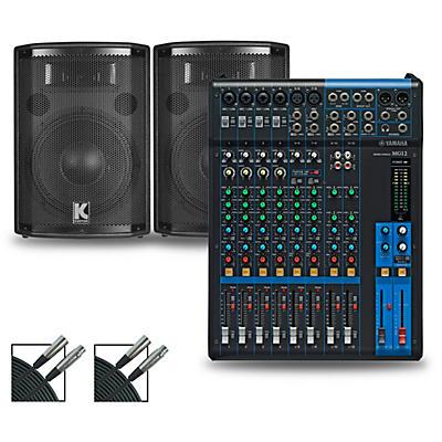 Yamaha MG12 Mixer and Kustom HiPAC Speakers
