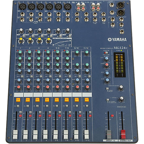 Yamaha mg124c 12 input stereo mixer with compression for Yamaha power amp mixer