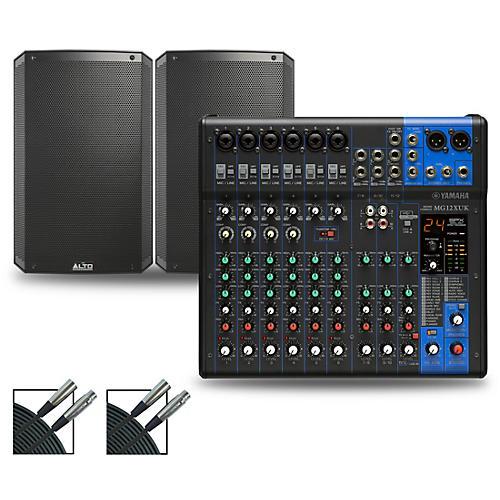 Yamaha MG12XUK Mixer with Alto TS3 Speakers 15