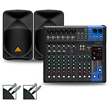 MG12XUK Mixer with Behringer Eurolive BW Speakers 12