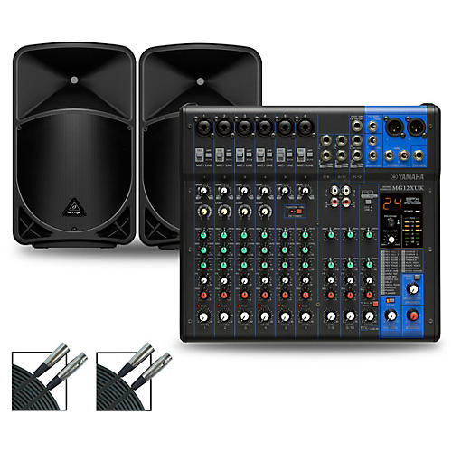 Yamaha MG12XUK Mixer with Behringer Eurolive BX Speakers