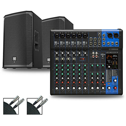 Yamaha MG12XUK Mixer with Electro-Voice EKX Speakers
