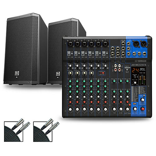 Yamaha MG12XUK Mixer with Electro-Voice ZLX Speakers 12