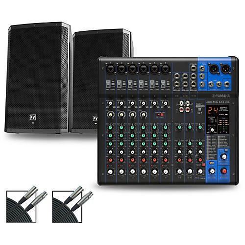 Yamaha MG12XUK Mixer with Electro-Voice ZLX Speakers