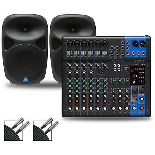 Yamaha MG12XUK Mixer with Gem Sound PBX Speakers
