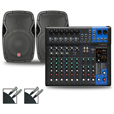 Yamaha MG12XUK Mixer with Harbinger Vari V10 Speakers