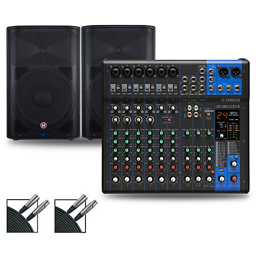 Yamaha MG12XUK Mixer with Harbinger Vari V22 Speakers
