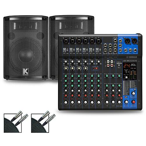 Yamaha MG12XUK Mixer with Kustom HiPAC Speakers