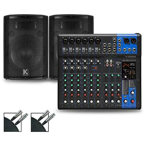 Yamaha MG12XUK Mixer with Kustom HiPAC Speakers