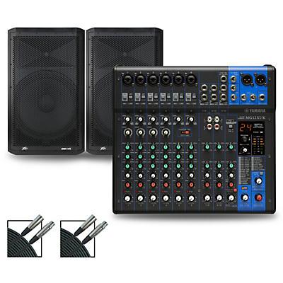 Yamaha MG12XUK Mixer with Peavey Dark Matter Speakers
