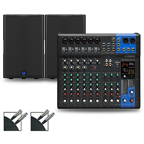 Yamaha MG12XUK Mixer with Turbosound Milan Speakers 15