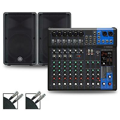 Yamaha MG12XUK Mixer with Yamaha DBR Speakers