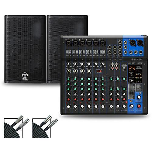 Yamaha MG12XUK Mixer with Yamaha DXR Speakers